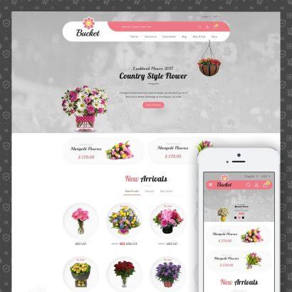 Bucket Flower Store Prestashop Theme