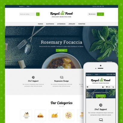Food and Restaurant Store Prestashop Theme