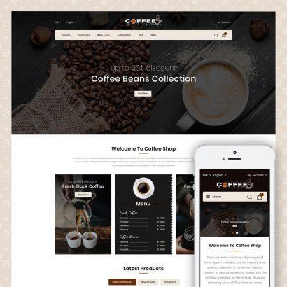 Fresh Coffee Shop Prestashop Theme
