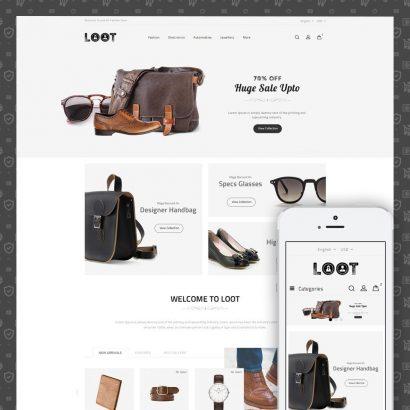 Loot - Online Fashion Store Prestashop Theme