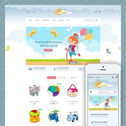 Paradise Toys Store Prestashop Theme
