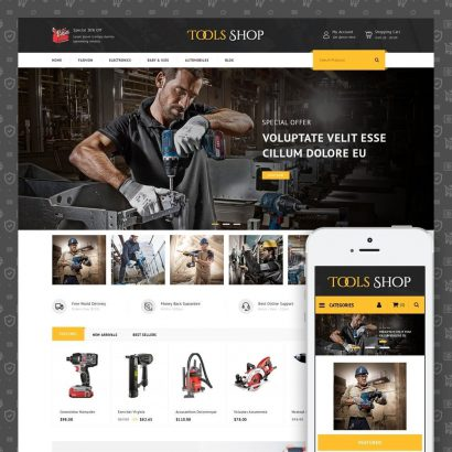 Tools Shop Prestashop Theme