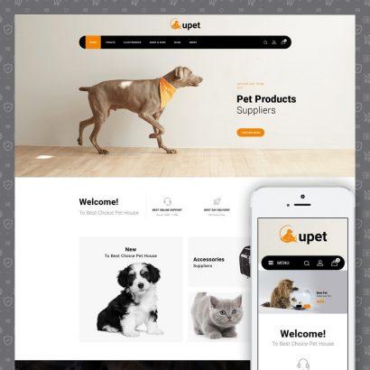 Upet Pets Store Prestashop Theme