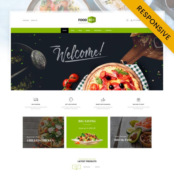 Food Box - Restaurant Store WooCommerce Theme