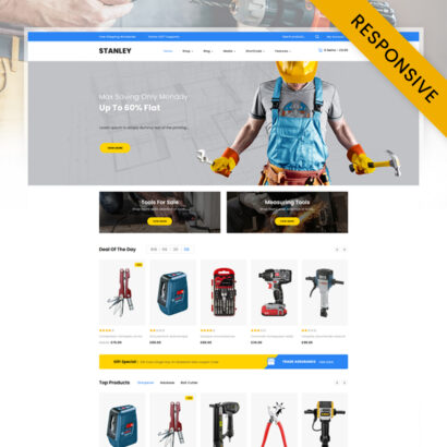 Stanley - Tools Hardware Store WooCommerce Theme