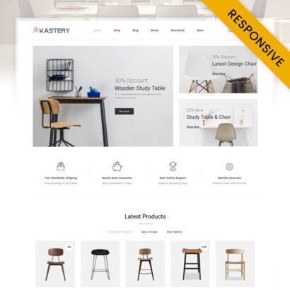 Kastery - Wood Furniture Store WooCommerce Theme