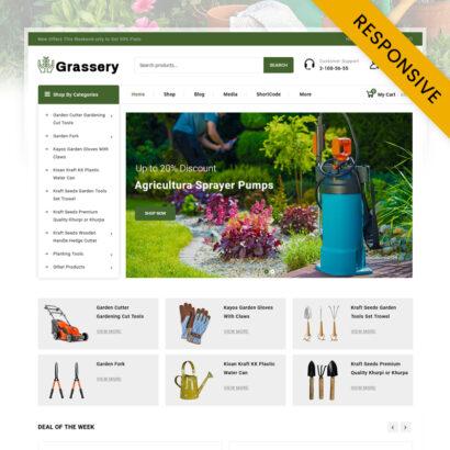 Grassery Garden Tools Store WooCommerce Theme