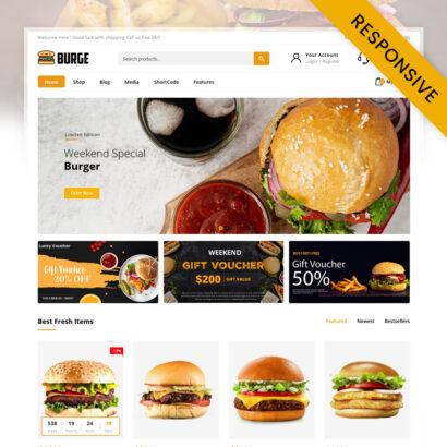 Burge - Fast Food Store WooCommerce Theme