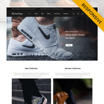 Footflops - Online Shoes Store WooCommerce Theme