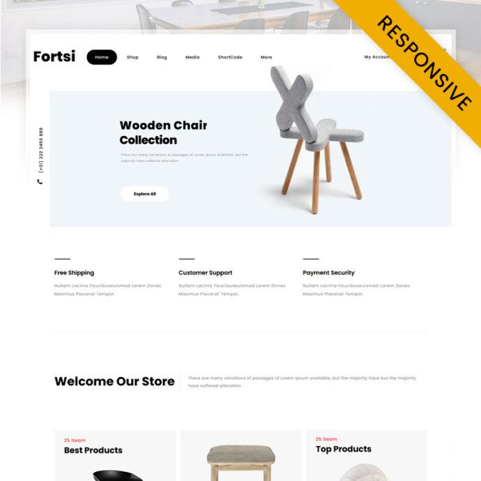 Fortsi - Furniture Store WooCommerce Theme