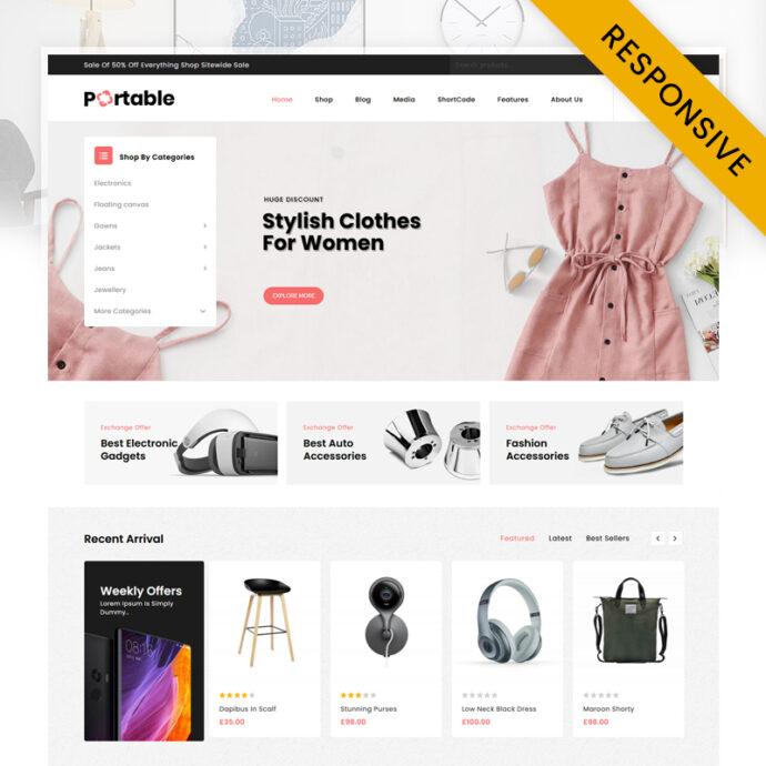 Portable - MegaStore Responsive WooCommerce Theme