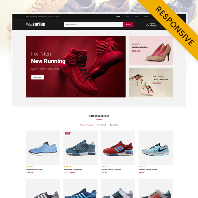 Zorion - Online Shoes Store WooCommerce Theme
