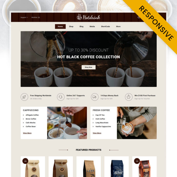 Hot Drink - Coffee Store WooCommerce Theme