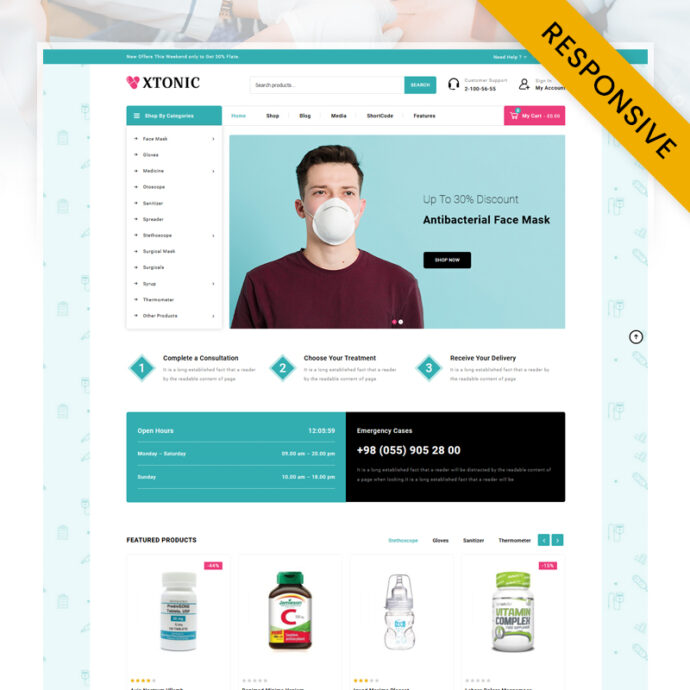 Xtonic Medicine Store WooCommerce Theme