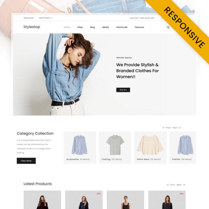 Stylestop - Minimal Fashion Store WooCommerce Theme