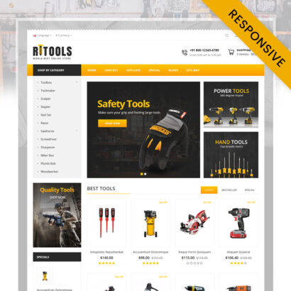 Online Tools Store OpenCart Theme
