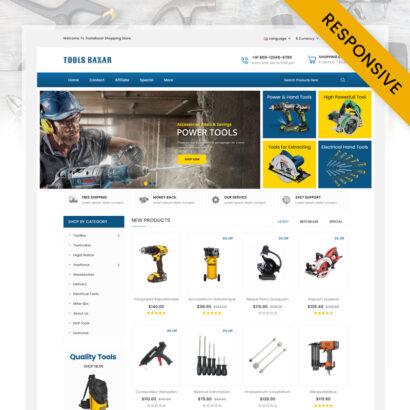 Tools Bazar - HandTools Store OpenCart Theme