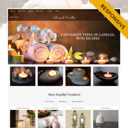 Macand Candles Store OpenCart Theme