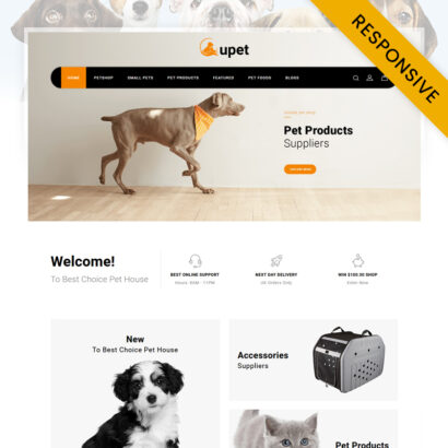 Upet Pets Store OpenCart Theme