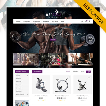 Fitness Life - Gym Equipment Store OpenCart Theme
