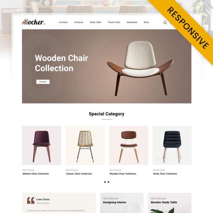 Rocker - Furniture Store OpenCart Theme