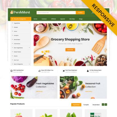 FreshMart - Grocery Store OpenCart Theme