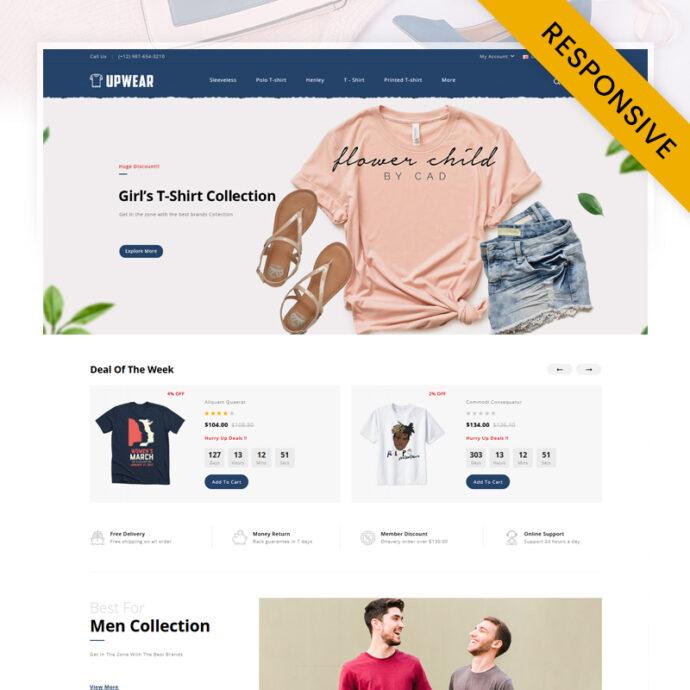 Upwear - Tshirt Store OpenCart Theme
