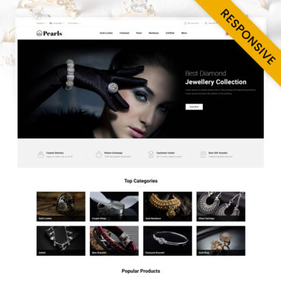 Pearls - Modern Jewelry Store OpenCart Theme
