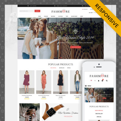 FashMore - Unique Fashion Prestashop 1.7 Responsive Theme