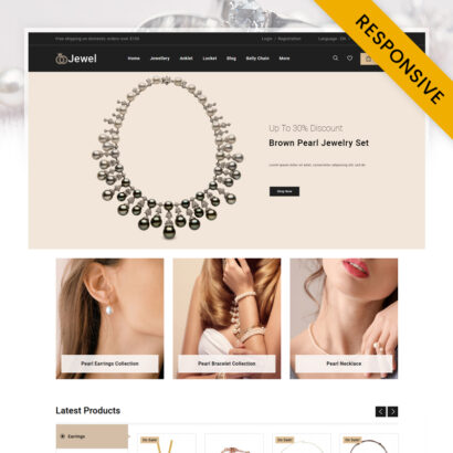 Jewel - Diamond Jewellery Store PrestaShop Theme