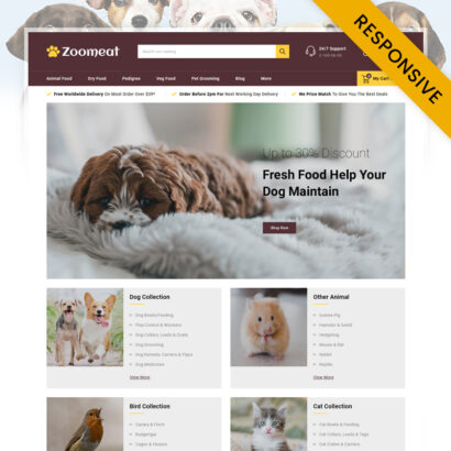 Zoomeat - Pets & Animals Store PrestaShop Theme