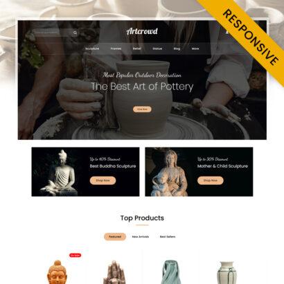 Artcrowd - Art Gallery Store PrestaShop Theme