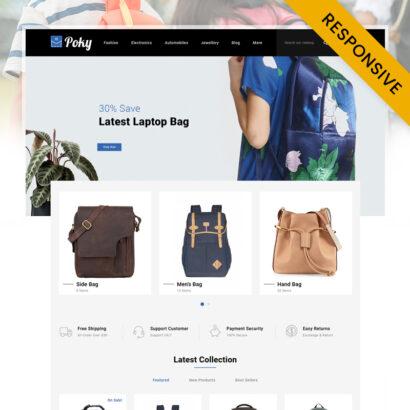 Poky - Travle Bag Store PrestaShop Theme