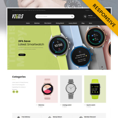 Vigils - Smart Watch Store PrestaShop Theme