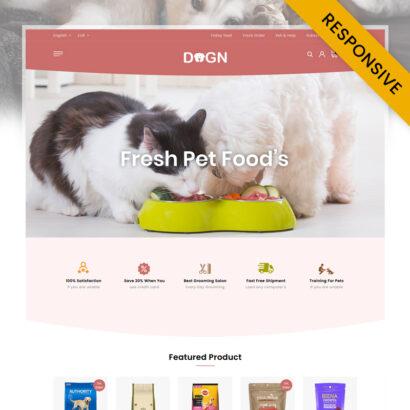 Dogn - Pet's Food Store PrestaShop Theme