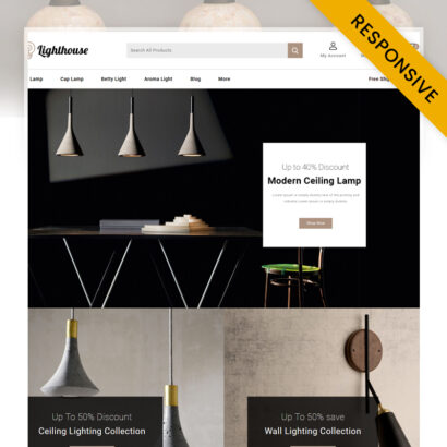 LightHouse - Lighting Store PrestaShop Theme