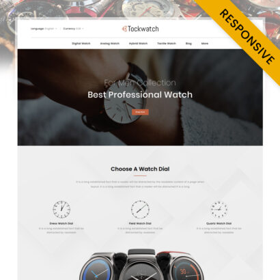 Tockwatch - Antique Watch Store PrestaShop Theme