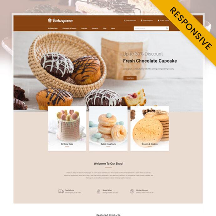 Bakequeen - Bakery Store PrestaShop Theme