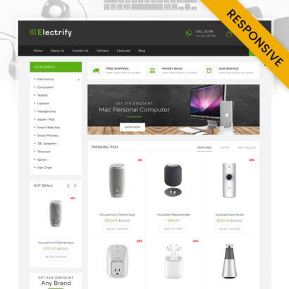 Electrify - Digital Store Shopify Theme
