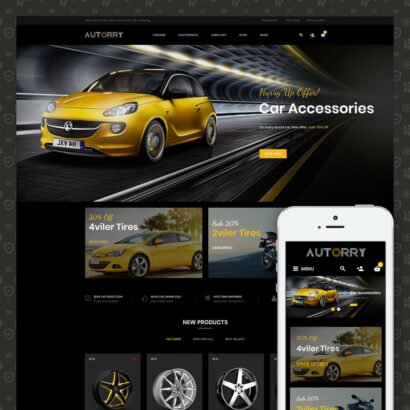 Autorry - Auto Parts Prestashop Theme