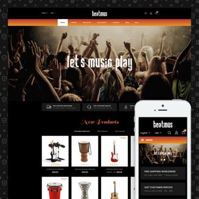 Beatmus - Musical Instrument Store Prestashop Theme