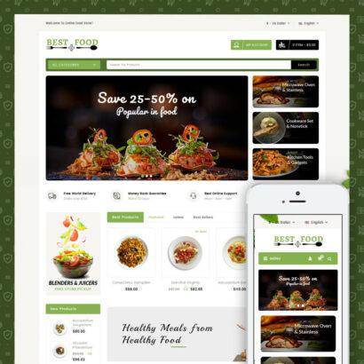 Best Food Store Prestashop Theme