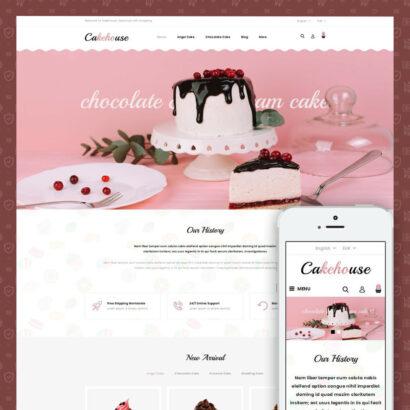 Cackehouse - Sweet Cake Store Prestashop Theme