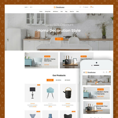 Demhome - Home Decoration Store Prestashop Theme