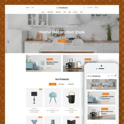 Demhome - Home Decoration Store Prestashop Theme
