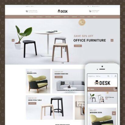 Desk - Furniture Store Prestashop Theme