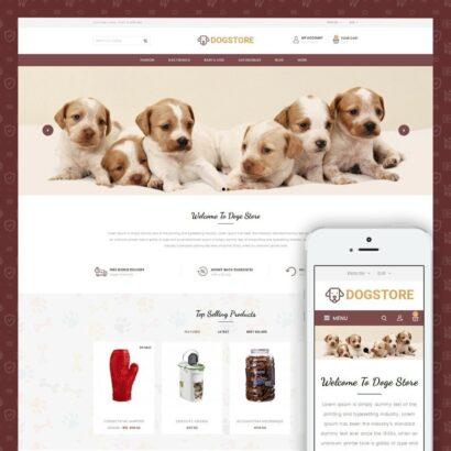 Dog Store - Pet Food Prestashop Theme