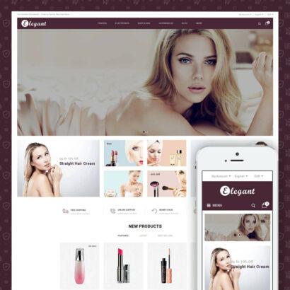Elegant - Cosmetic Store Prestashop Theme
