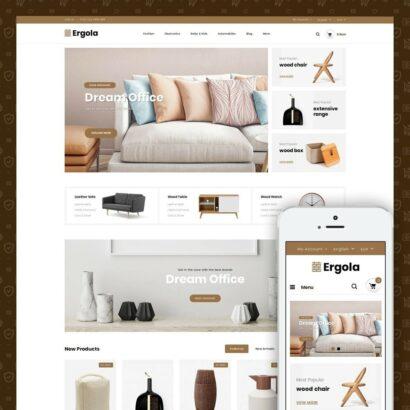Ergola - Online Furniture Store Prestashop Theme