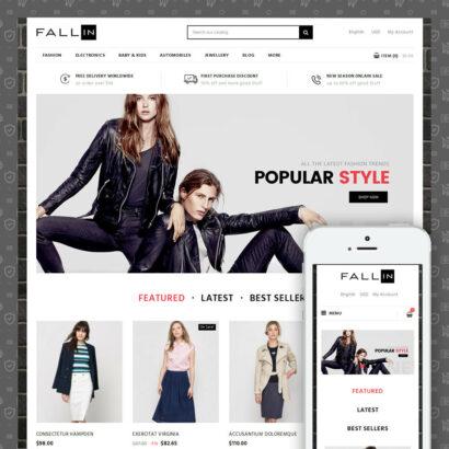 Fallin - Apparel Store Prestashop Theme
